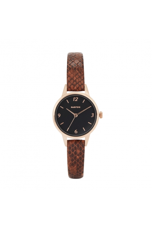 Casual Watch Rose Gold Tray Brown U