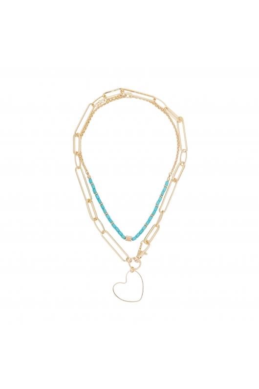 SET COLIERE Turquoise