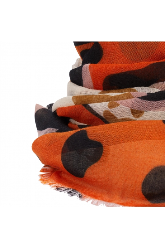 Printed Scarf Twilight Colors Orange M