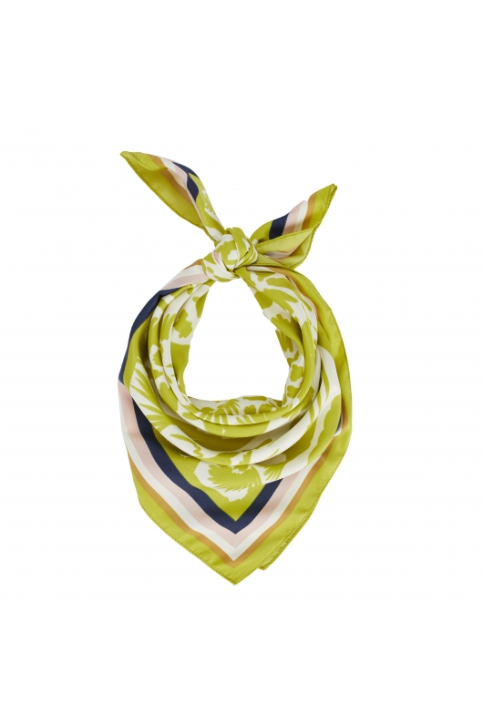 Square Scarf Lateral Squares Yellow S