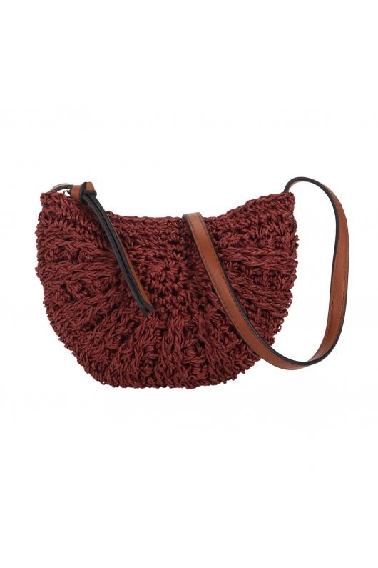 Crossbody Bag Ikat Pinkgreen Brick Red S