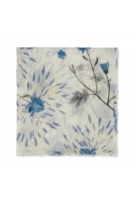 Printed Scarf Heart of Nature Blue M