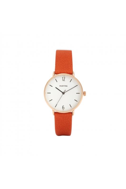 Casual Watch Rose Gold Tray Orange U