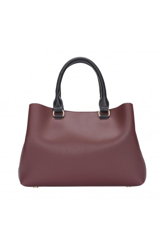 Tote Bag CROWN Burgundy M