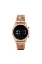 Digital Watch Rose Gold