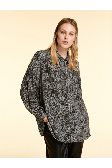 CAMASA OVERSIZED, CU FIR LUREX