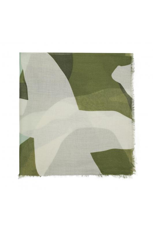 Printed Scarf Mum Rocks Green M