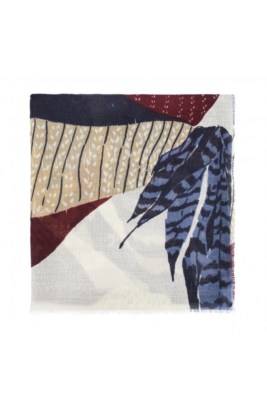 Blanket Scarves LAMAS Blue M