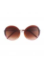 Round Sunglasses Brown