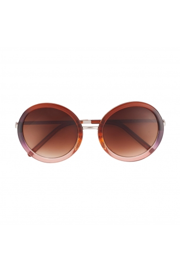 Round Sunglasses Brown