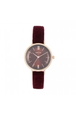 Casual Watch Rose Gold Burgundy