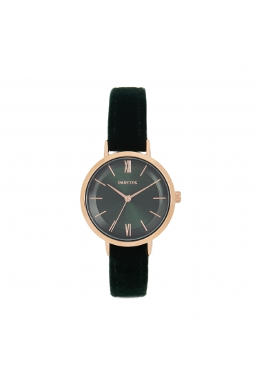 Casual Watch Rose Gold Dark Green