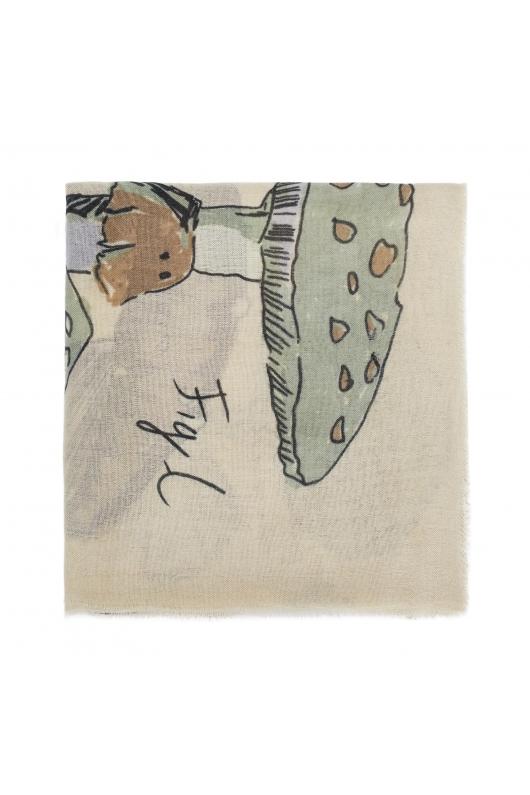 Blanket Scarves WINTER MUSHROOMS Green M