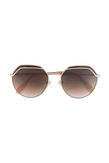 Round Sunglasses Light Gold