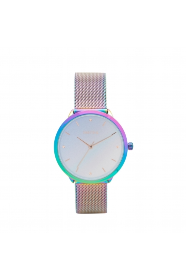 Casual Watch Silver Metallic Multicolor