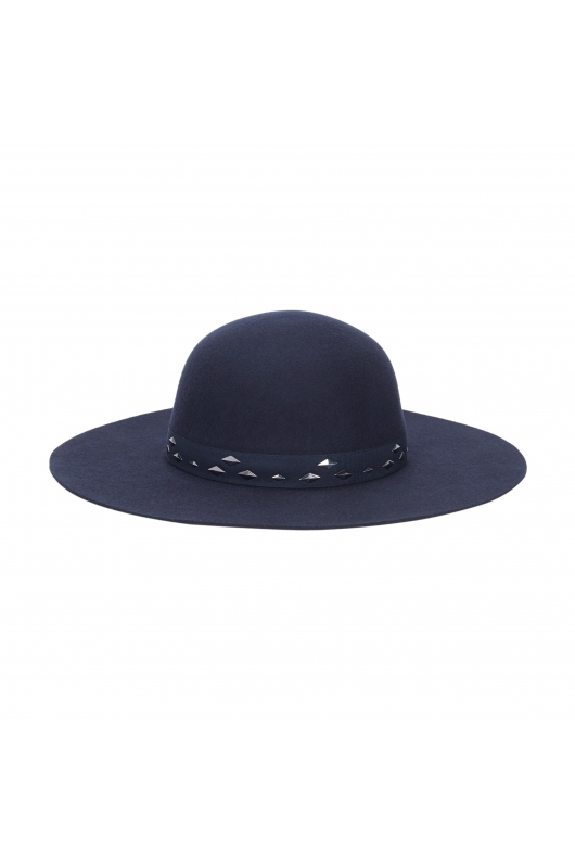 Rounded Crown Hat Navy
