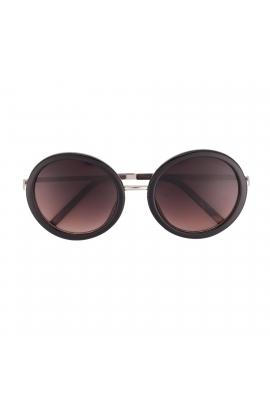 Round Sunglasses Black U