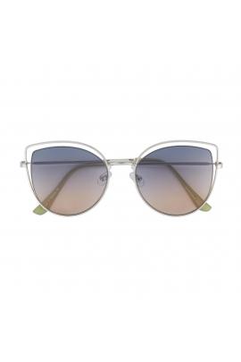 Cat Eye Sunglasses Silver U
