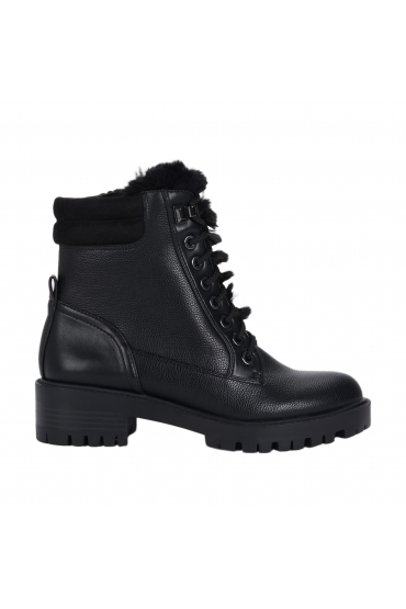 Flat Heel Ankle Boots Winter Militar Boot Black