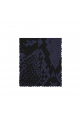 Blanket Scarves SNAKES Blue M