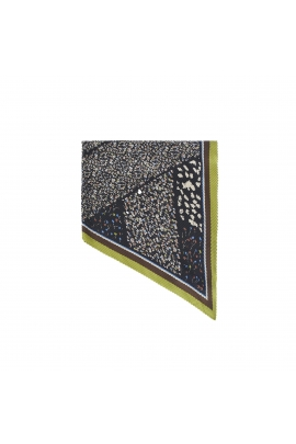 Square Scarf Lateral Squares Black M