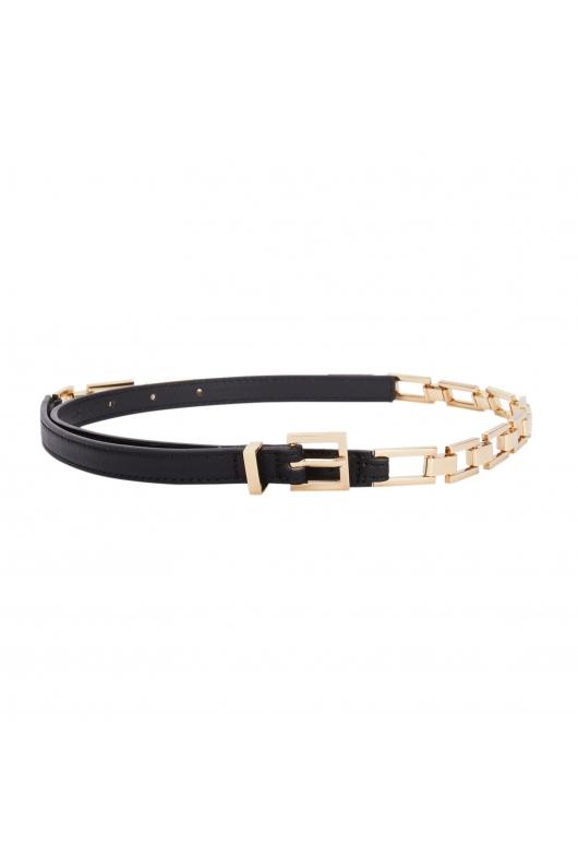 Narrow Belt Black U