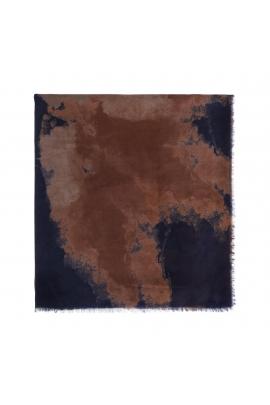 Printed Scarf WATER FLOWERS Light Blue M