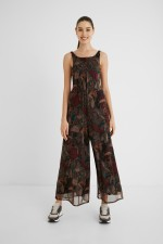 WOMAN KNIT OVERALL TROUSERS