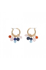 Earring CANDY STONES Pastel Multicolor U