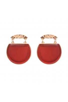 Earrings GREEN TEA  Red U