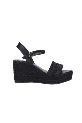 High Heel Sandals Black Wedge Black