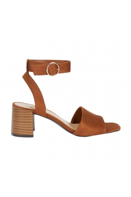 Medium Heel Sandals Camel