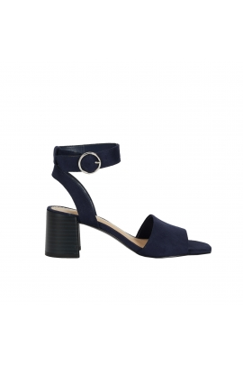 Medium Heel Sandals Navy