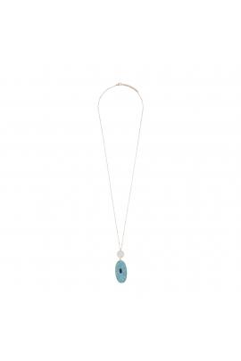 COLIER SANTORINI Turquoise U
