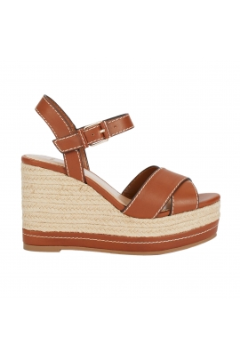 High Heel Sandals BASIC WEDGE CAMEL Camel