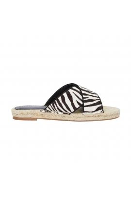 Flat Heel Sandals ZEBRA STRAP SANDAL Black
