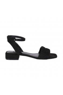 Flat Heel Sandals Black