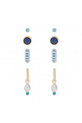 Set of Earrings SANTORINI Blue U