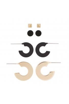 Set of Earrings BLOG Black U