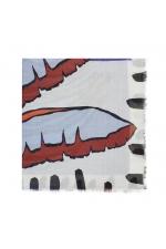 Printed Scarf JUICY Blue M
