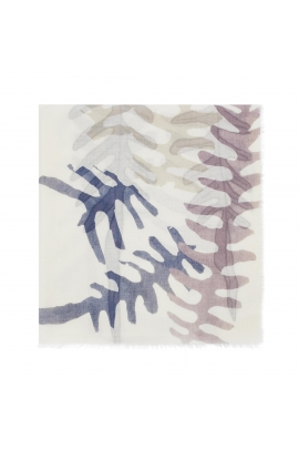 Printed Scarf WATER LEO Blue M