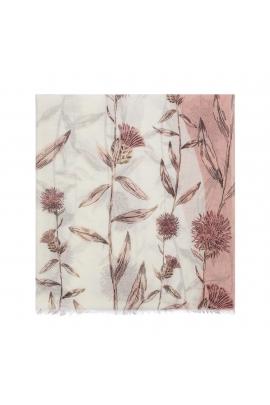 Printed Scarf APRIL GARDENS Pink M