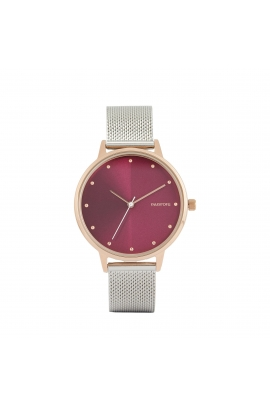 Casual Watch Rose Gold Tray Silver
