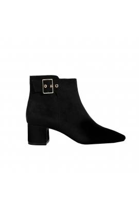 Ankle Boots  Buckle Black