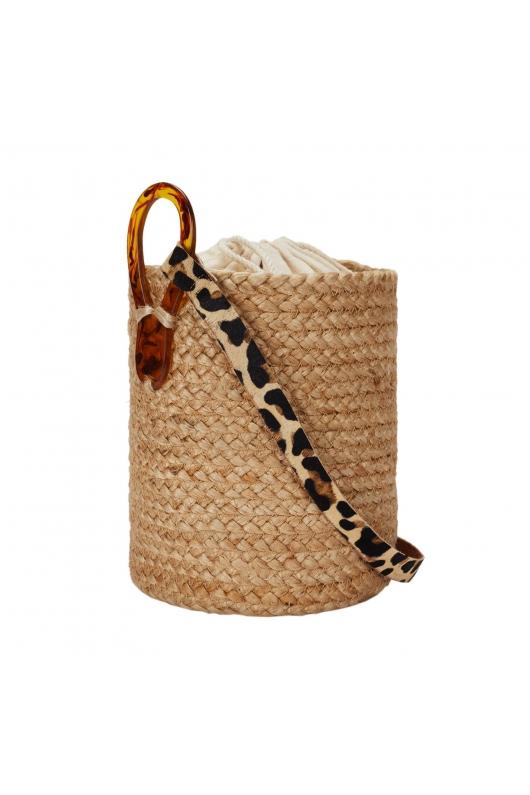 Bucket Bag EVA1 Straw M