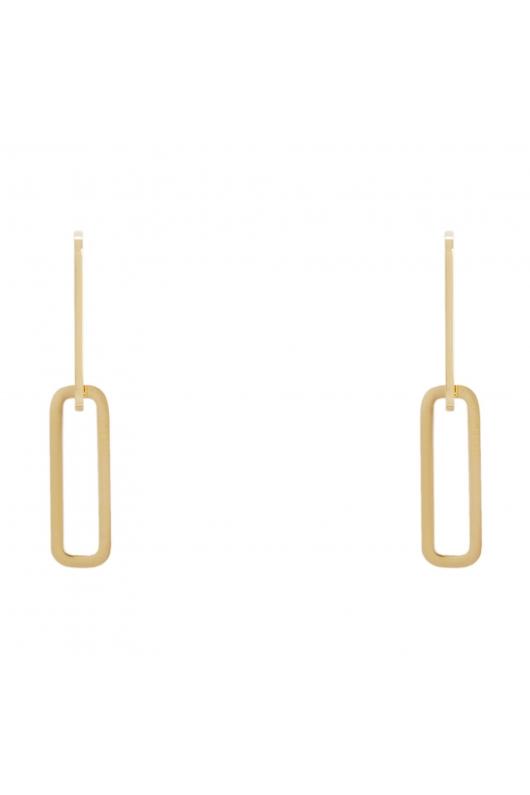 Earring STAINLESS STEEL GOLDEN Gold U