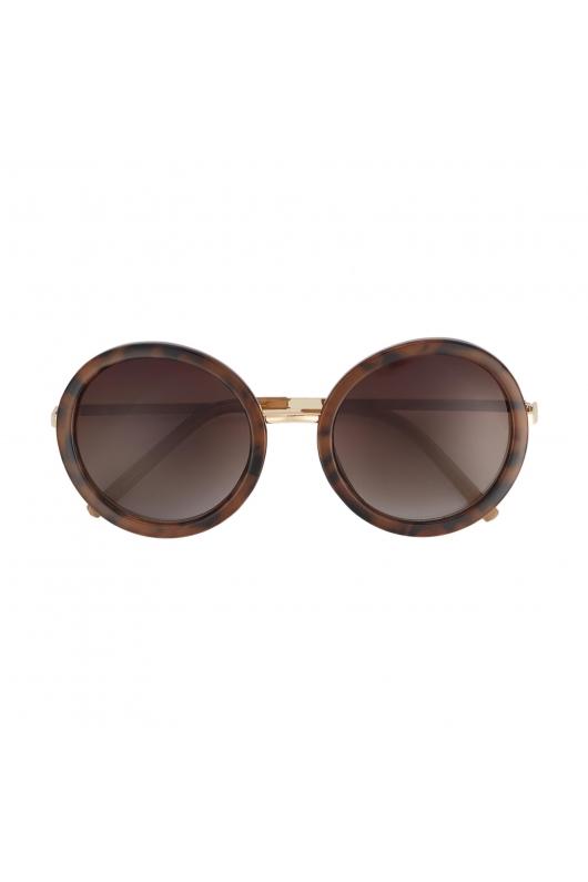 Round Sunglasses GENSUN Brown U
