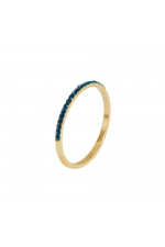 Ring STAINLESS STEEL COLOR Blue