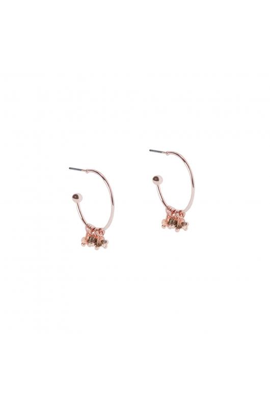 Hoop earrings ROSE CHARM