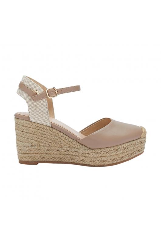 High Heel Sandals WEDGE BICOLOR Beige